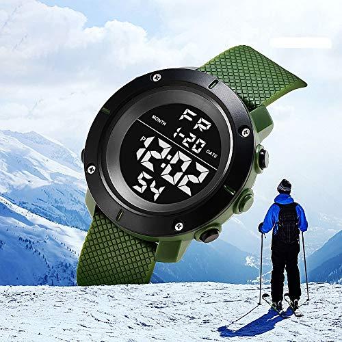 Relógio de Pulso KAK Masculino Militar Digital Esportes Data Hora Alarme Cronômetro cor: Verde