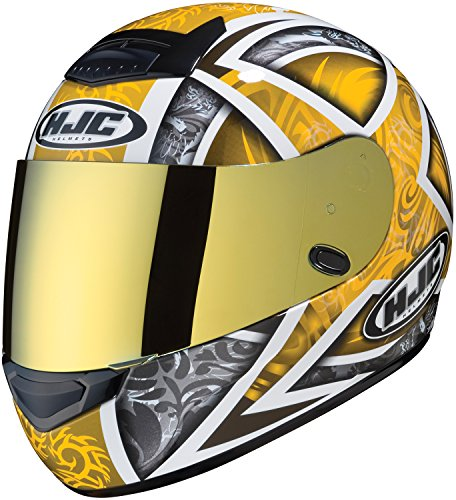 HJC Helmets HJ-17 Pinlock Ready RST Shield IS-MAX BT Street Bike Racing Motorcycle Helmet Accessories - Gold/One Size Fits Most