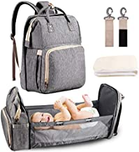 3 in 1 Travel Baby Bed Foldable Diaper Bag Backpack Changing Station with Comfortable Mattress,Portable Bassinets for Baby Girls Boys, Travel Crib Infant Sleeper