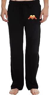 EVALY Men's Golden Heart Valentine Particular Short Training Pants Black