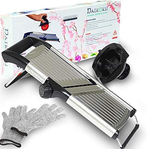 Adjustable Manual Mandoline Slicer Stainless Steel Kitchen Food Cutter and Chopper For Vegetable product image
