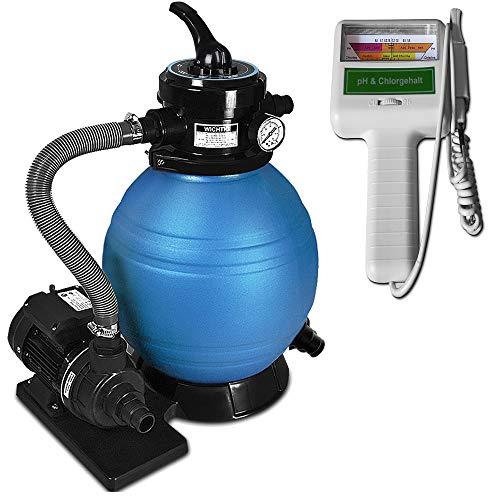 Deuba Depuradora 10.200 l/h Bomba de Filtro de Arena con válvula con...