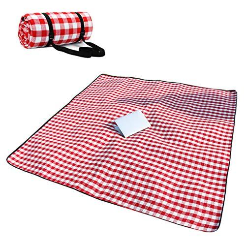 WEIWEI Picknick Im Freien Matte, Rot-weiß Kariert, Feuchtigkeitsfest Und Wasserdicht, Zelt Matte