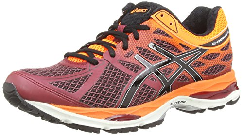 ASICS Gel-Cumulus 17 - Zapatillas de running para hombre, Rojo (Deep Ruby/Onyx/Hot Orange 2699), 7.5 UK 42 EU