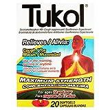 Tukol Relieves Cough & Mucus, Maximum Strength, 20 Softgels by TUKOL