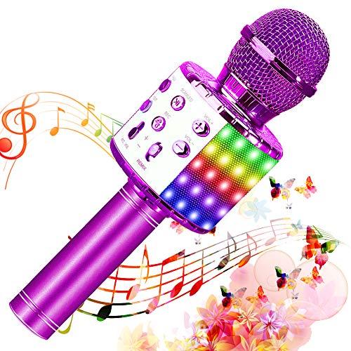 SunTop Micrófono Karaoke Bluetooth, Microfono...