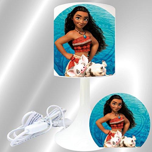 Kikoucat VAIANA - Lampe de Chevet de création - Lampe à Poser Enfant