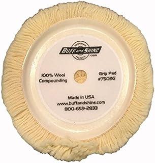 Almofada de polimento de lã Buff and Shine, branca (BFS-7502G)