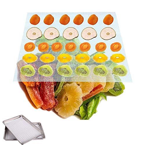 6 Piezas Secador de Frutas Antiadherente, Secador de Frutas de Malla, Alfombrillas Deshidratadoras de Frutas, Hoja Deshidratadora de Silicona, Hojas Deshidratadoras de Silicona