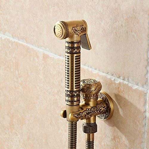 Latón grifos bidé individual fría pared portátil Higiénico aerosol cabezal de ducha para el lavado de coches Baño Aseo Enjuague mascotas aerógrafo 8891, antiguo, Federación Rusa
