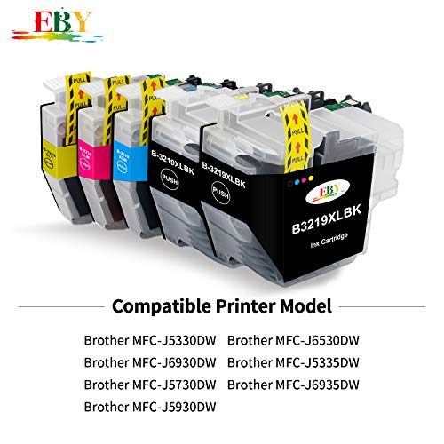 EBY Compatiable Brother LC3219XL LC-3219XL Cartuchos de Tinta para Brother MFC-J6935DW MFC-J5335DW MFC-J5330DW MFC-J5730DW MFC-J6930DW MFC-J5930DW MFC-J6530DW (4 Negro, 2 Amarillo, 2 Magenta, 2 Cian)