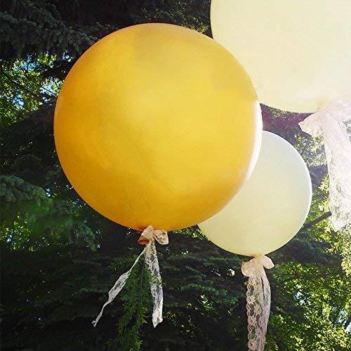 5 grote ballonnen - 36 inch ronde ballonnen - Extra grote en dikke ballonnen Herbruikbare gigantische latex ballonnen voor bruiloft / verjaardagsfeestdecoratie, fotoshoot en festivals Kerstversiering (goud)