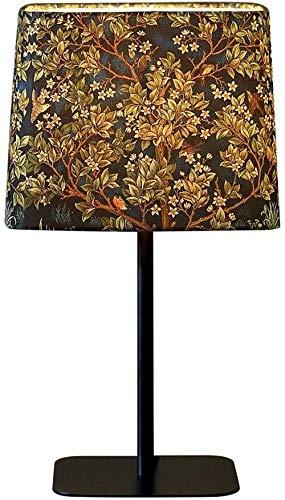 DJSMtd Lámpara de mesa Nordic Creativa LED Pastoral, paño de luz cálida para la sombra de la lámpara de escritorio para el salón o el dormitorio E27