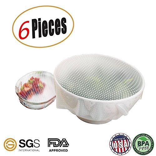 réutilisable Eco Coque en silicone Nourriture stratifiées, Joint Bol couvertures, Nourriture stretch couvercles, ustensiles de cuisine de l'environnement