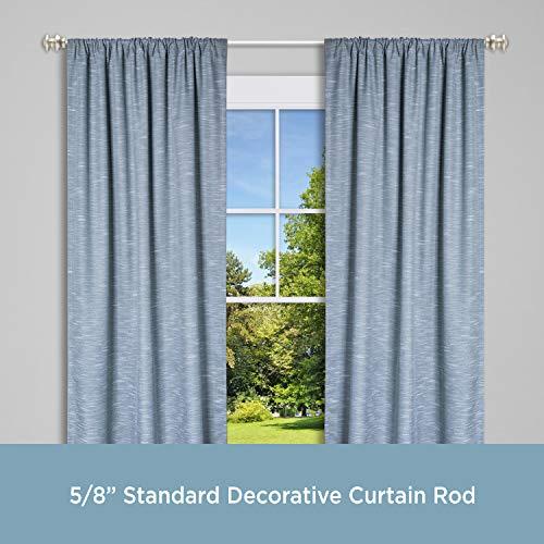 Kenney KN71717 Kendall Standard Decorative Window Curtain Rod, 48-86