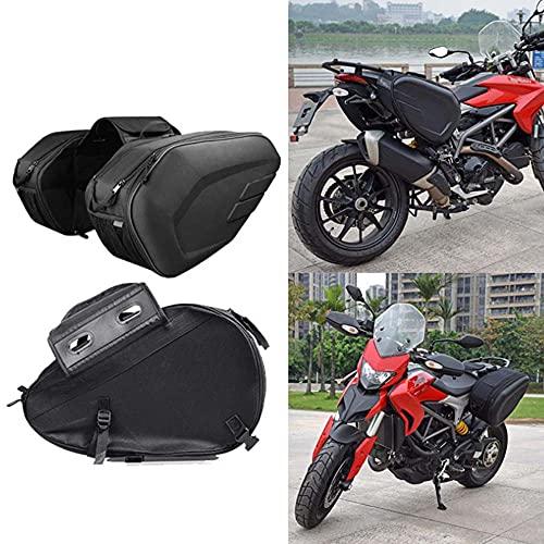 YMXDXTY Caja de Motocicleta Impermeable Bolsa de Silla de Montar Caja de Fibra de Carbono Paquete del Paquete Viaje Paquete de Cola de Gran Capacidad Derecha Bolsa