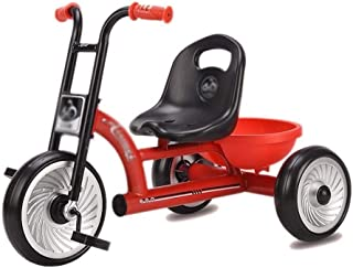 Girls & Boys Kids Freestyle Bicycle Children's Tricycle,Kids Tractor Tricycle With Adjustable Seat, Steel Construction, Li...