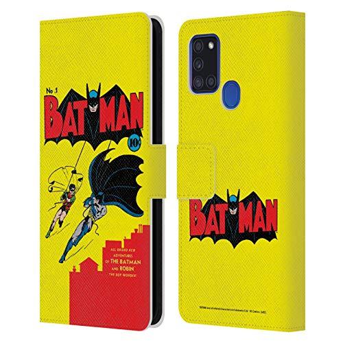 Head Case Designs Licenza Ufficiale Batman DC Comics Numero 1 Copertine di Libri Comici Famosi Cover in Pelle a Portafoglio Compatibile con Samsung Galaxy A21s (2020)
