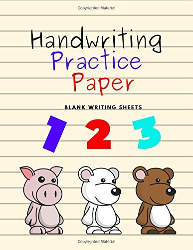 Handwriting Practice Paper: Blank Writing Sheets Notebook for Preschool and Kindergarten Kids, 8.5x11 inches , 100 pages no.14