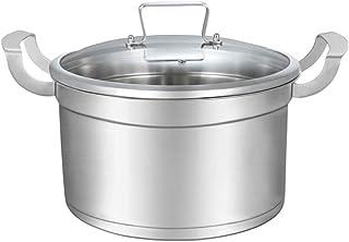 LINGZHIGAN Olla de Sopa 304 Acero Inoxidable Olla de Sopa Profunda Doble Fondo Engrosamiento de la Cocina Olla Antiadherente Olla de Sopa para Aumentar 2 CM