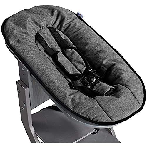TiSsi 100285 Babyaufsatz für Hochstuhl grau - Anthrazit, mehrfarbig, 2.8 kg