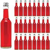 slkfactory 12 Botellas de Vidrio vacías, tapón de Rosca (de 350 ml), para Licor, Zumo, Aceite, vinagre
