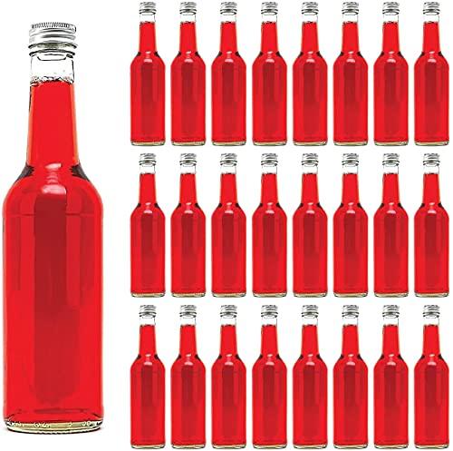 12 leere Glasflaschen 350 ml Schraubverschluss Flasche BOR Likörflaschen Schnapsflaschen Saftflaschen Essig-Öl Flaschen mit Verschluss zum selbst Abfüllen 0,35 liter von slkfactory
