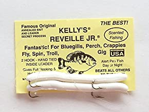 Reveille, Jr. Kelly's Bass Worms White - 6 Count