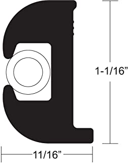 "TACO METALS TACO FLEX VINYL RUB RAIL KIT 1 1/16"" BLACK W/WHITE INSERT V11-0809BWK50-2"
