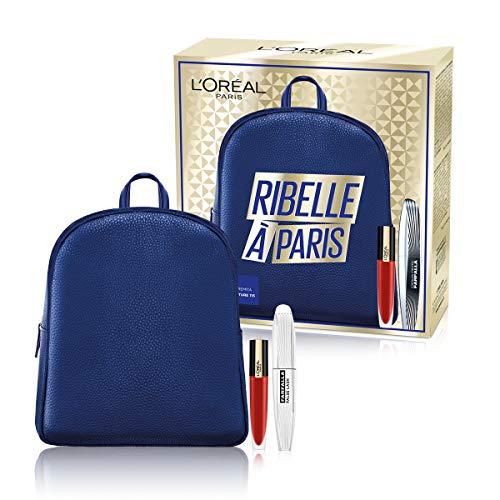 L'Oréal Paris Idea Regalo Donna Natale 2020, Zainetto con Mascara Volumizzante Ciglia Finte Farfalla e Rossetto Liquido...