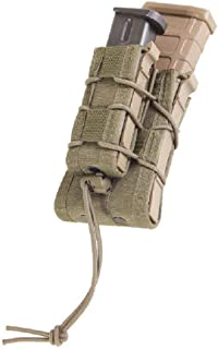 High Speed Gear Double Decker Taco Pouch | Double Stack Magazine Holster for Rifles and Pistols | MOLLE Compatible for Rapid Response