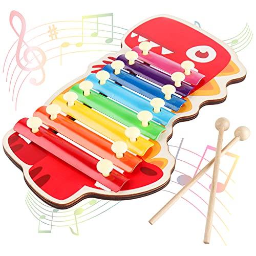 Jooheli Colorati Strumento Xilofono, Xilofono per Bambini Giocattoli Musicali per Bambini Xilofono a Percussione Giocattoli Musicali per Bambino delle Ragazze dei Ragazzi