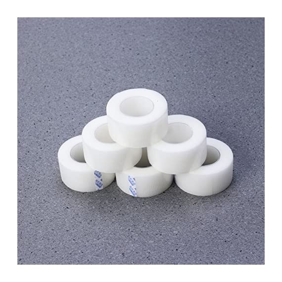 Healifty 6 rolls medical tape pressure for sensitive skin clear surgical tape pe microporous first aid tape 5 color: white. Material: pe. Size: approx. 10m x 15mm. Very strong, breathable, comfortable. Applied with medical adhesive glue, it will not cause wound infection.
