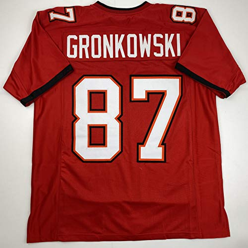 Unsigned Rob Gronkowski Tampa Bay Red 2020 Custom Stitched Football Jersey Size Men's XL New No Brands/Logos