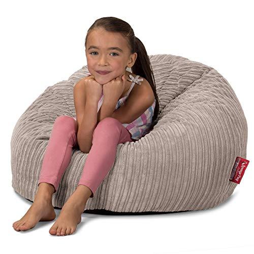 Lounge Pug, CloudSac 200 Kinder, Riesen Memory-Schaum Kinder Sitzsack, Cord Nerzfarben