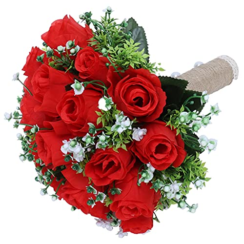 Buquê artificial, ramo de flores inovador para sala de estar para casamento para palco para noiva