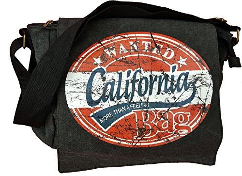 Robin Ruth WANTED USA Amerika RocknRoll Schultertasche Umschlagtasche Messenger bags (Wanted California)