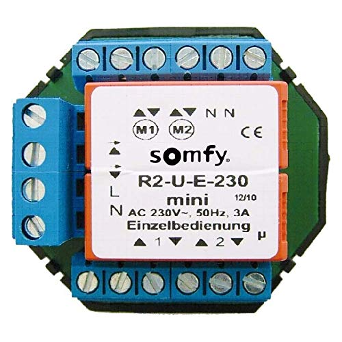 Somfy Trennrelais TR2-U-E-230 Mini UP f. Zwei Antriebe Trennrelais Jalousie 3660849562908