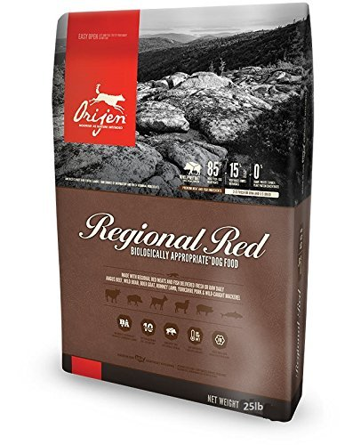 Orijen Regional Red Biologically Appropriate Dry Dog Food 25 Pound. Bag.