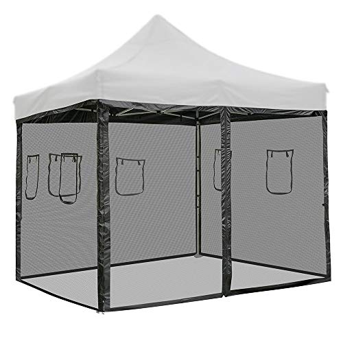 Yescom EZ Pop Up 10 ft Canopy Tent Mesh Side Wall Commercial Party Tent Shelter Sidewall with Window Pack of 4