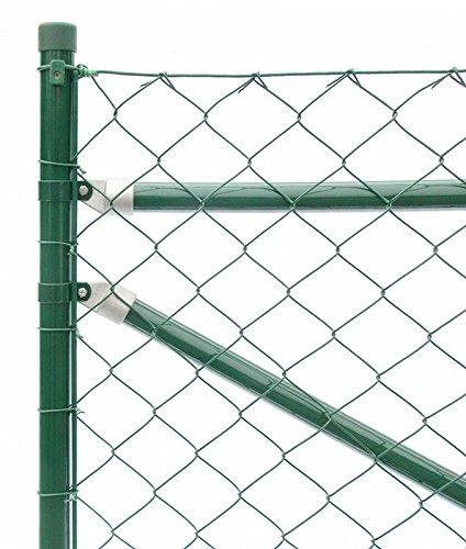 Zaun-Nagel Maschendrahtzaun Drahtzaun Gartenzaun Maschendraht Komplettset Standardqualität - 25 m / 125 cm hoch