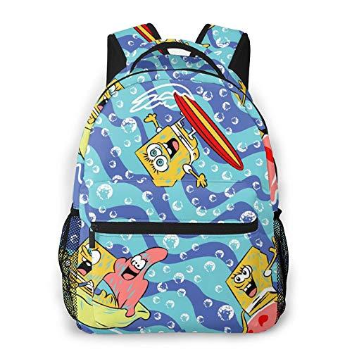 Bob ESP-Onja Canvas Backpack School Bag Casual Travel Daypack Laptop Backpack for Adult Teen Student