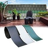 interGo 10 Stück Hart PVC Sichtschutzstreifen, Sichtschutz Windschutz Garten für Doppelstabmattenzaun Zaun Zaunsichtschutz für Gartenzaun, Balkon- Grün (2,5m*19cm)