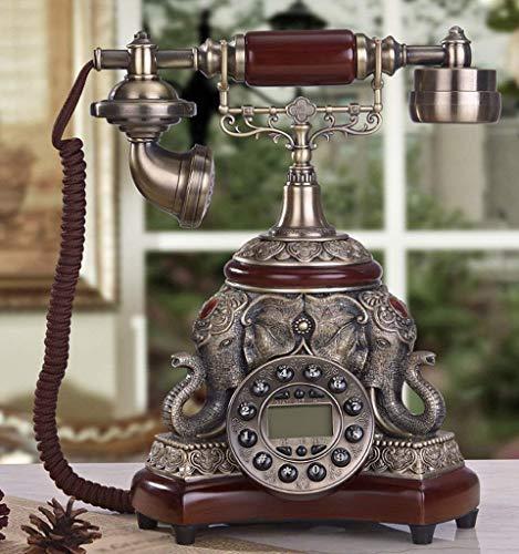 Dirgee Teléfono Antiguo, Elefante Creativo/Salón / 25x22x31cm Teléfono Celular (Color: # 2) (Color : #2)