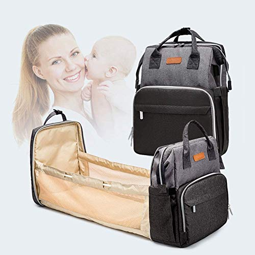 Diaper bag Portable Bassinet for Baby Travel, Maternity Mummy Baby Bag Changing Travel Backpack, 3 in 1 Foldable Baby Bed, Crib Diaper Bag Backpack Changing Station,Multifunctional Baby Travel Cot.