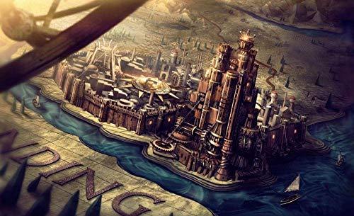 azfvveu Puzzle Game of Thrones Weltkarte 1000 Stück Lustige Puzzles aus Holz für Erwachsene 1000 Stück 75X50Cm Freunde und Familie