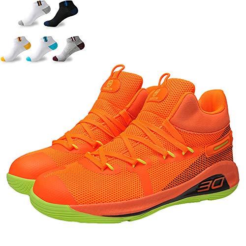XFQ Zapatos Moda Baloncesto, Correr Unisex De Absorción De