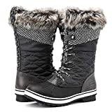 ALEADER Waterproof Snow Boots for Women, Warm Winter Boots with Fur Lined Grey 7.5 B(M) US