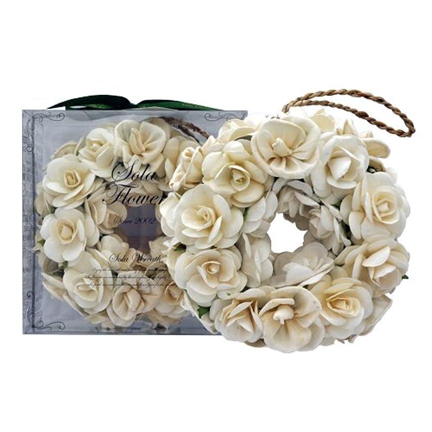 湖湿気の多いランチョンnew Sola Flower ソラフラワー リース Gentle Rose ジェントルローズ Wreath