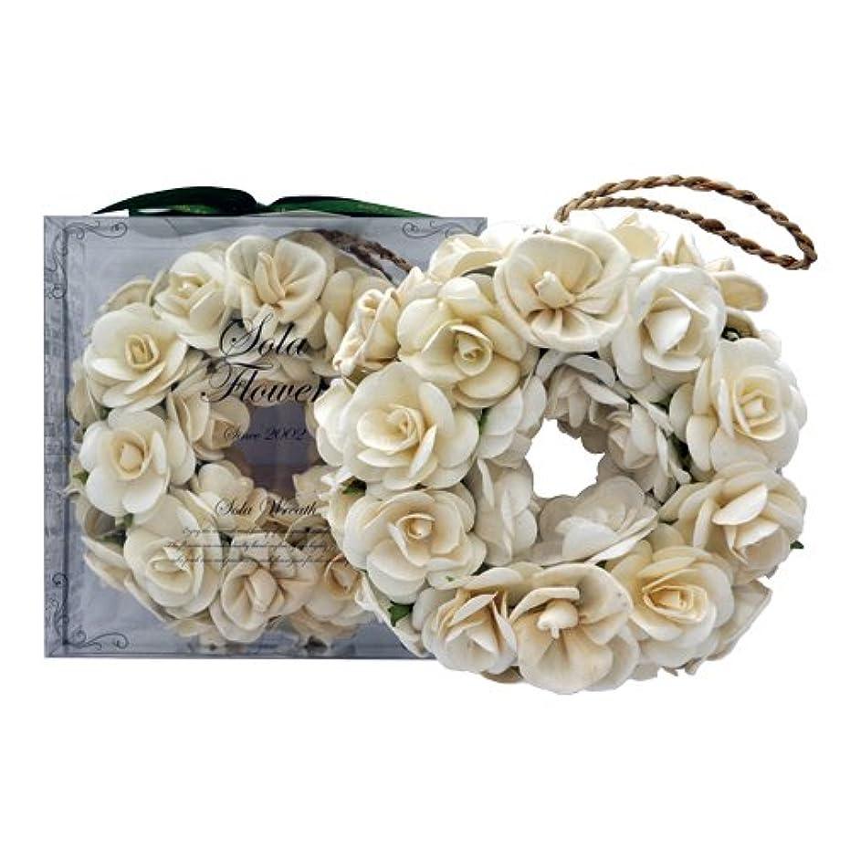 復活リビングルーム鈍いnew Sola Flower ソラフラワー リース Gentle Rose ジェントルローズ Wreath